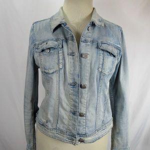 DKNY Acid Wash Jean Jacket Large